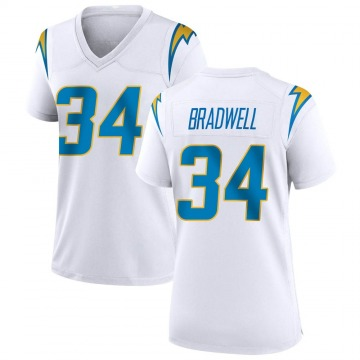 Women's Nike Los Angeles Chargers Darius Bradwell White Jersey - Game