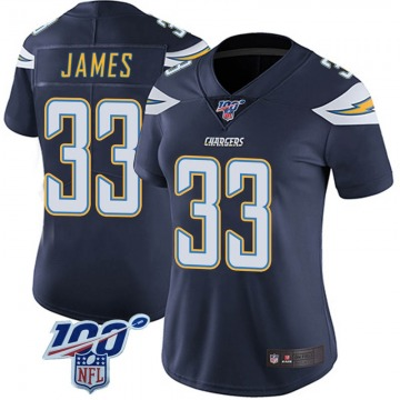 Women's Nike Los Angeles Chargers Derwin James Navy 100th Vapor Jersey - Limited