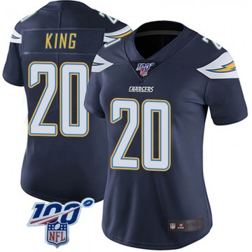 Women's Nike Los Angeles Chargers Desmond King Navy 100th Vapor Jersey - Limited