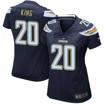 Women's Nike Los Angeles Chargers Desmond King Navy Team Color Jersey - Game