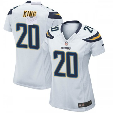 Women's Nike Los Angeles Chargers Desmond King White Jersey - Game