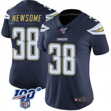 Women's Nike Los Angeles Chargers Detrez Newsome Navy 100th Vapor Jersey - Limited
