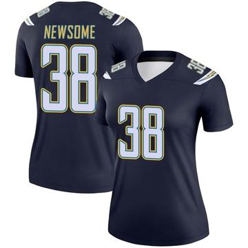 Women's Nike Los Angeles Chargers Detrez Newsome Navy Jersey - Legend