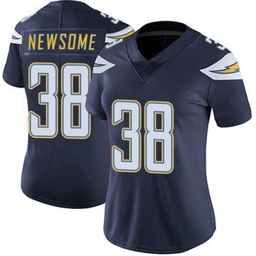 Women's Nike Los Angeles Chargers Detrez Newsome Navy Team Color Vapor Untouchable Jersey - Limited