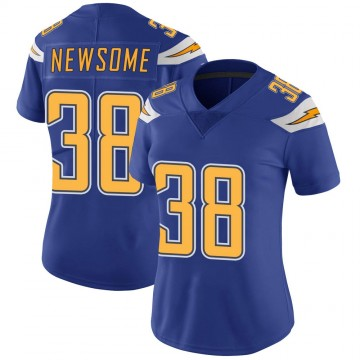Women's Nike Los Angeles Chargers Detrez Newsome Royal Color Rush Vapor Untouchable Jersey - Limited