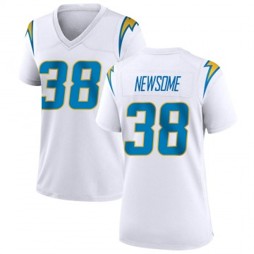 Women's Nike Los Angeles Chargers Detrez Newsome White Jersey - Game