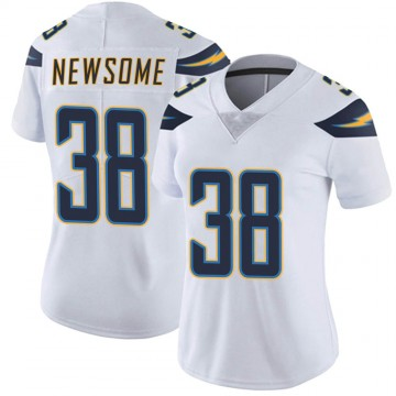 Women's Nike Los Angeles Chargers Detrez Newsome White Vapor Untouchable Jersey - Limited