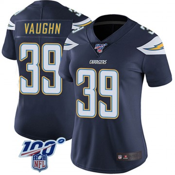 Women's Nike Los Angeles Chargers Donte Vaughn Navy 100th Vapor Jersey - Limited