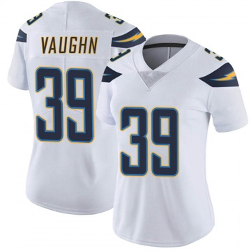 Women's Nike Los Angeles Chargers Donte Vaughn White Vapor Untouchable Jersey - Limited