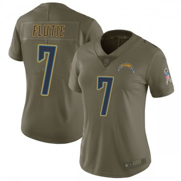 Women's Nike Los Angeles Chargers Doug Flutie Green 2017 Salute to Service Jersey - Limited