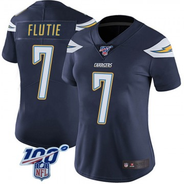 Women's Nike Los Angeles Chargers Doug Flutie Navy 100th Vapor Jersey - Limited