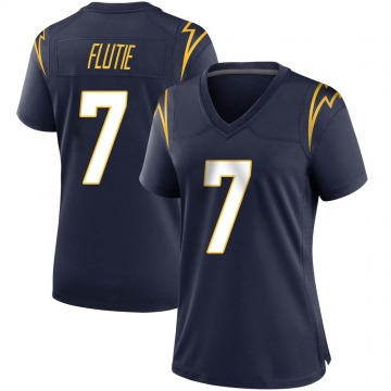 Women's Nike Los Angeles Chargers Doug Flutie Navy Team Color Jersey - Game