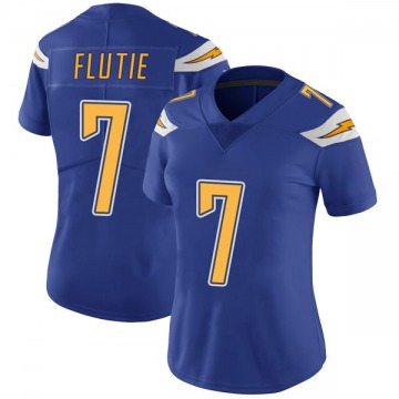 Women's Nike Los Angeles Chargers Doug Flutie Royal Color Rush Vapor Untouchable Jersey - Limited
