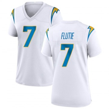 Women's Nike Los Angeles Chargers Doug Flutie White Jersey - Game