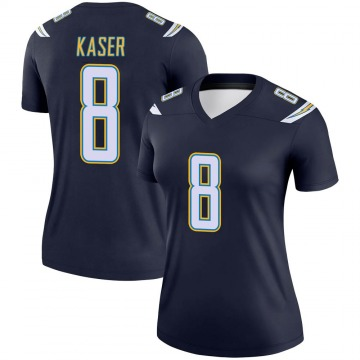 Women's Nike Los Angeles Chargers Drew Kaser Navy Jersey - Legend