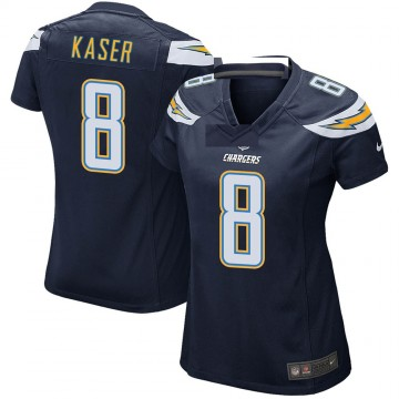 Women's Nike Los Angeles Chargers Drew Kaser Navy Team Color Jersey - Game