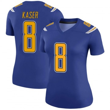 Women's Nike Los Angeles Chargers Drew Kaser Royal Color Rush Jersey - Legend