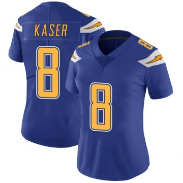 Women's Nike Los Angeles Chargers Drew Kaser Royal Color Rush Vapor Untouchable Jersey - Limited