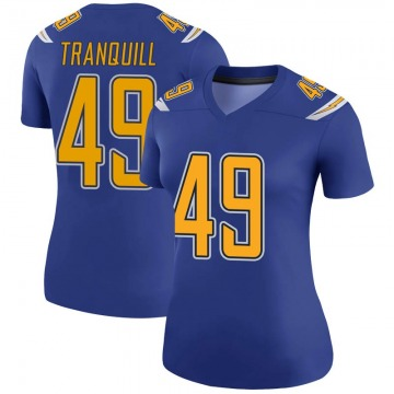 Women's Nike Los Angeles Chargers Drue Tranquill Royal Color Rush Jersey - Legend