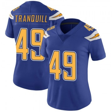 Women's Nike Los Angeles Chargers Drue Tranquill Royal Color Rush Vapor Untouchable Jersey - Limited