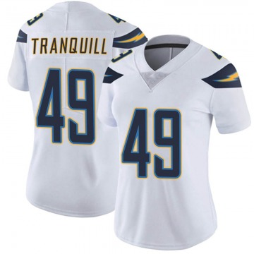 Women's Nike Los Angeles Chargers Drue Tranquill White Vapor Untouchable Jersey - Limited