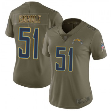Women's Nike Los Angeles Chargers Emeke Egbule Green 2017 Salute to Service Jersey - Limited