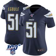 Women's Nike Los Angeles Chargers Emeke Egbule Navy 100th Vapor Jersey - Limited