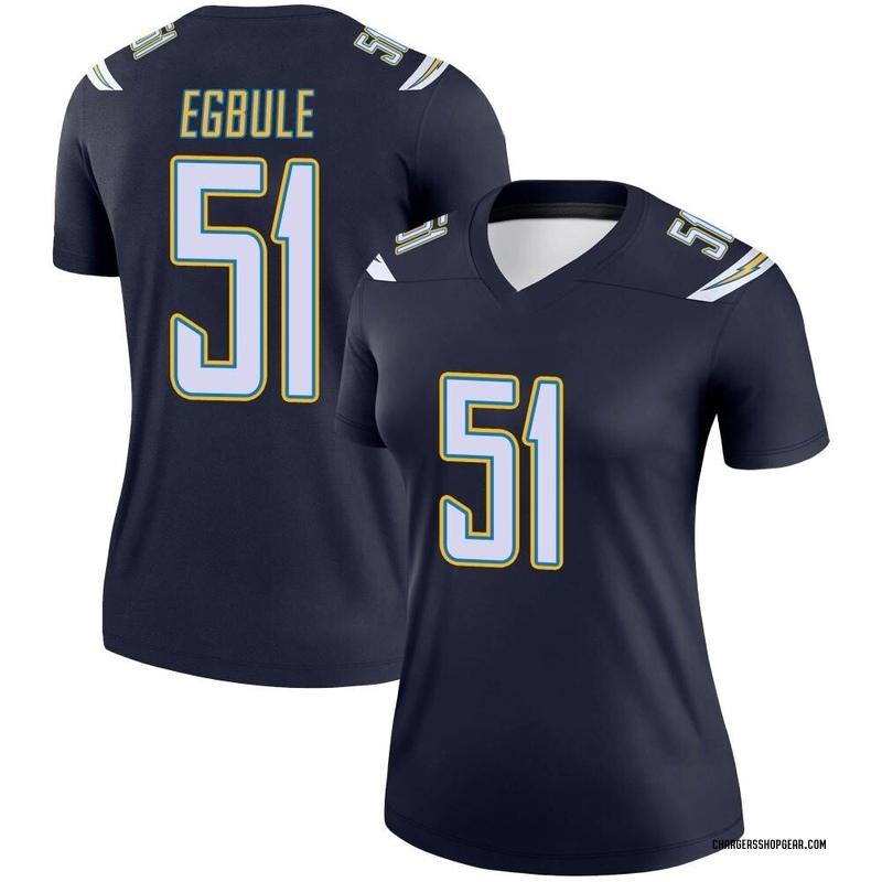 Women's Nike Los Angeles Chargers Emeke Egbule Navy Jersey - Legend