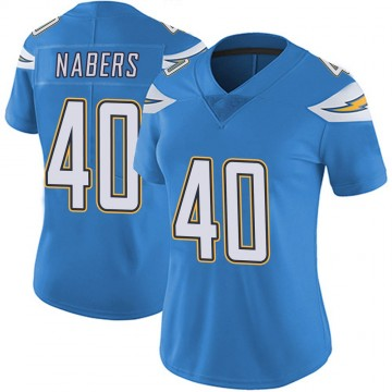 Women's Nike Los Angeles Chargers Gabe Nabers Blue Powder Vapor Untouchable Alternate Jersey - Limited