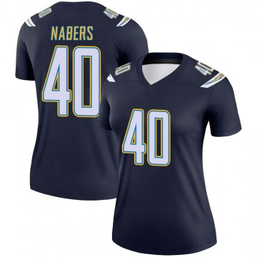 Women's Nike Los Angeles Chargers Gabe Nabers Navy Jersey - Legend