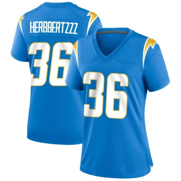 Women's Nike Los Angeles Chargers Jahleel Addae Blue Powder Alternate Jersey - Game