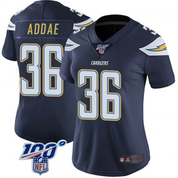 Women's Nike Los Angeles Chargers Jahleel Addae Navy 100th Vapor Jersey - Limited