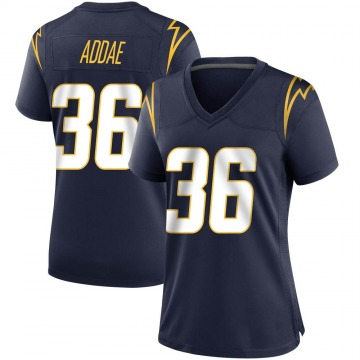 Women's Nike Los Angeles Chargers Jahleel Addae Navy Team Color Jersey - Game