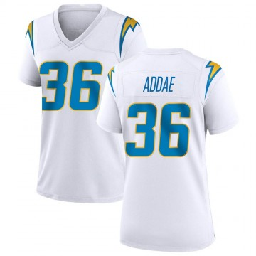Women's Nike Los Angeles Chargers Jahleel Addae White Jersey - Game