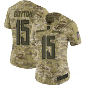 Women's Nike Los Angeles Chargers Jalen Guyton Camo 2018 Salute to Service Jersey - Limited