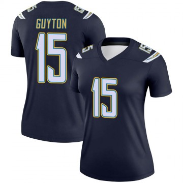 Women's Nike Los Angeles Chargers Jalen Guyton Navy Jersey - Legend