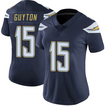 Women's Nike Los Angeles Chargers Jalen Guyton Navy Team Color Vapor Untouchable Jersey - Limited