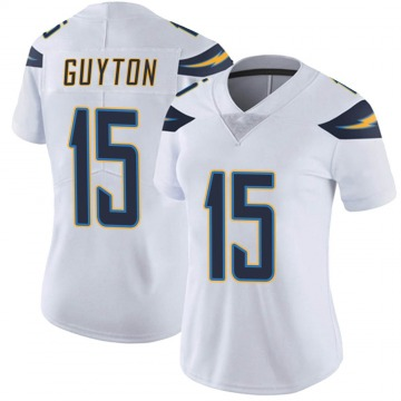 Women's Nike Los Angeles Chargers Jalen Guyton White Vapor Untouchable Jersey - Limited