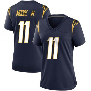 Women's Nike Los Angeles Chargers Jason Moore Navy Team Color Jersey - Game
