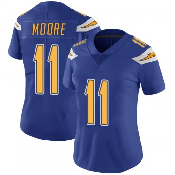 Women's Nike Los Angeles Chargers Jason Moore Royal Color Rush Vapor Untouchable Jersey - Limited