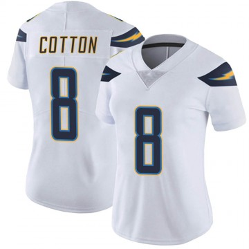 Women's Nike Los Angeles Chargers Jeff Cotton White Vapor Untouchable Jersey - Limited