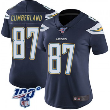 Women's Nike Los Angeles Chargers Jeff Cumberland Navy 100th Vapor Jersey - Limited