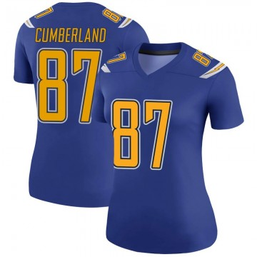 Women's Nike Los Angeles Chargers Jeff Cumberland Royal Color Rush Jersey - Legend