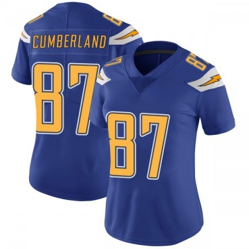 Women's Nike Los Angeles Chargers Jeff Cumberland Royal Color Rush Vapor Untouchable Jersey - Limited