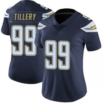 Women's Nike Los Angeles Chargers Jerry Tillery Navy Team Color Vapor Untouchable Jersey - Limited