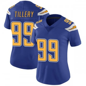 Women's Nike Los Angeles Chargers Jerry Tillery Royal Color Rush Vapor Untouchable Jersey - Limited