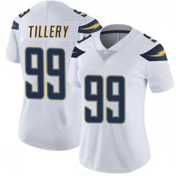 Women's Nike Los Angeles Chargers Jerry Tillery White Vapor Untouchable Jersey - Limited