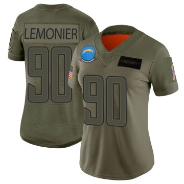 Women's Nike Los Angeles Chargers Jessie Lemonier Camo 2019 Salute to Service Jersey - Limited