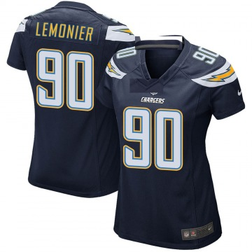 Women's Nike Los Angeles Chargers Jessie Lemonier Navy Team Color Jersey - Game