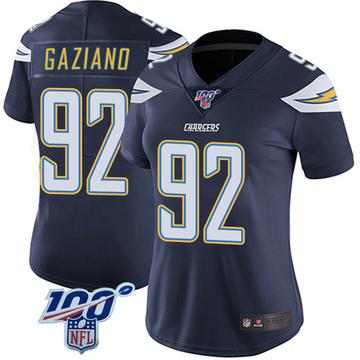 Women's Nike Los Angeles Chargers Joe Gaziano Navy 100th Vapor Jersey - Limited